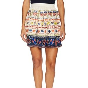 ALICE & OLIVIA Tania  Pleated Embroidery Skirt